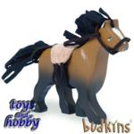 bk837 - Brown horse with saddle