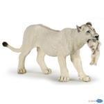 50203 - White lioness with cub