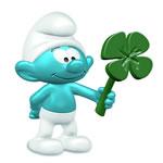 20797 - Smurf with clover leaf